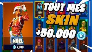 All my Skins on Fortnite Battle Royale (500 euros)