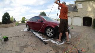 Greenworks 1500 psi Foam Cannon Test
