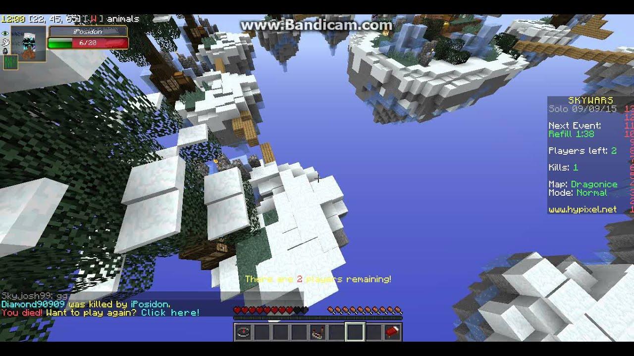 Minecraft Hypixel Skywars (IP IN DESC)