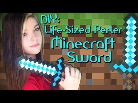 Diy Life Sized Perler Minecraft Sword