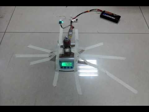 Motor with 4 kg thrust and only 400 gm weight