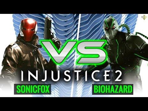 Injustice 2: SonicFox (Red Hood) vs Biohazard (Bane)
