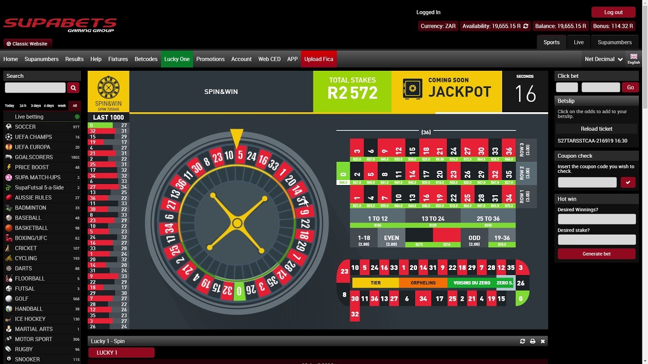 supabets betting rules for roulette