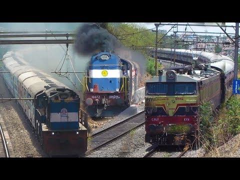 12 TRAINS ON MUMBAI - PUNE LINE | DECCAN QUEEN EXPRESS, DURONTO & MORE  - Indian Railways