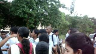 Student election campaigning at its height!!! A scene for BJB Autonomous College, Orissa