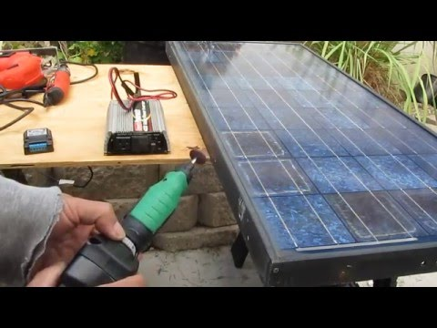 DIY: Portable Solar Power pack 110V AC backup system run by Cordless tool battery