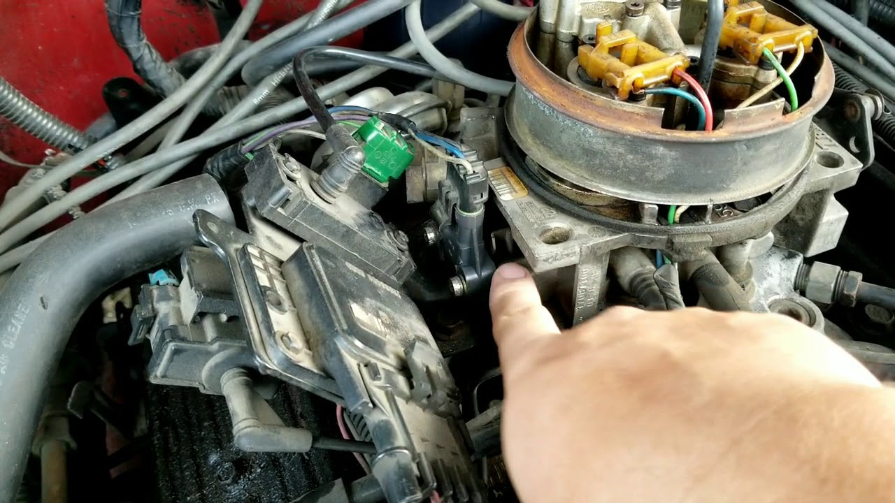 replacing the tps or throttle position sensor 1988 gmc suburban  [ 1280 x 720 Pixel ]