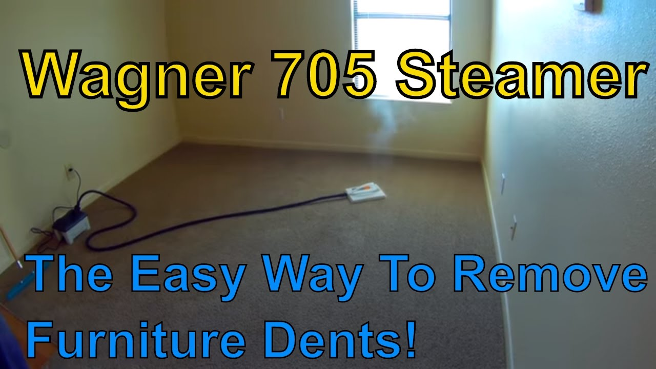 removing furniture dents from carpets!