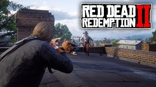 Red Dead Redemption 2 - Holding Off Against an Entire Town