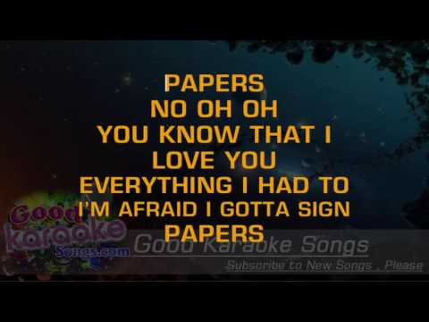 Papers -  Usher ( Karaoke Lyrics )