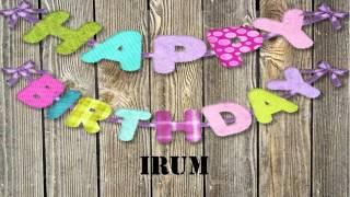 Irum   wishes Mensajes