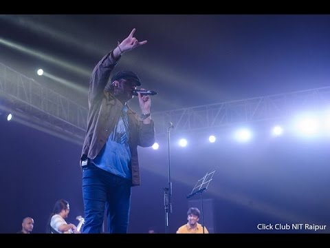 mohit chauhan  performanceTujhe Bhula dia song in NIT Raipur 2016college fest
