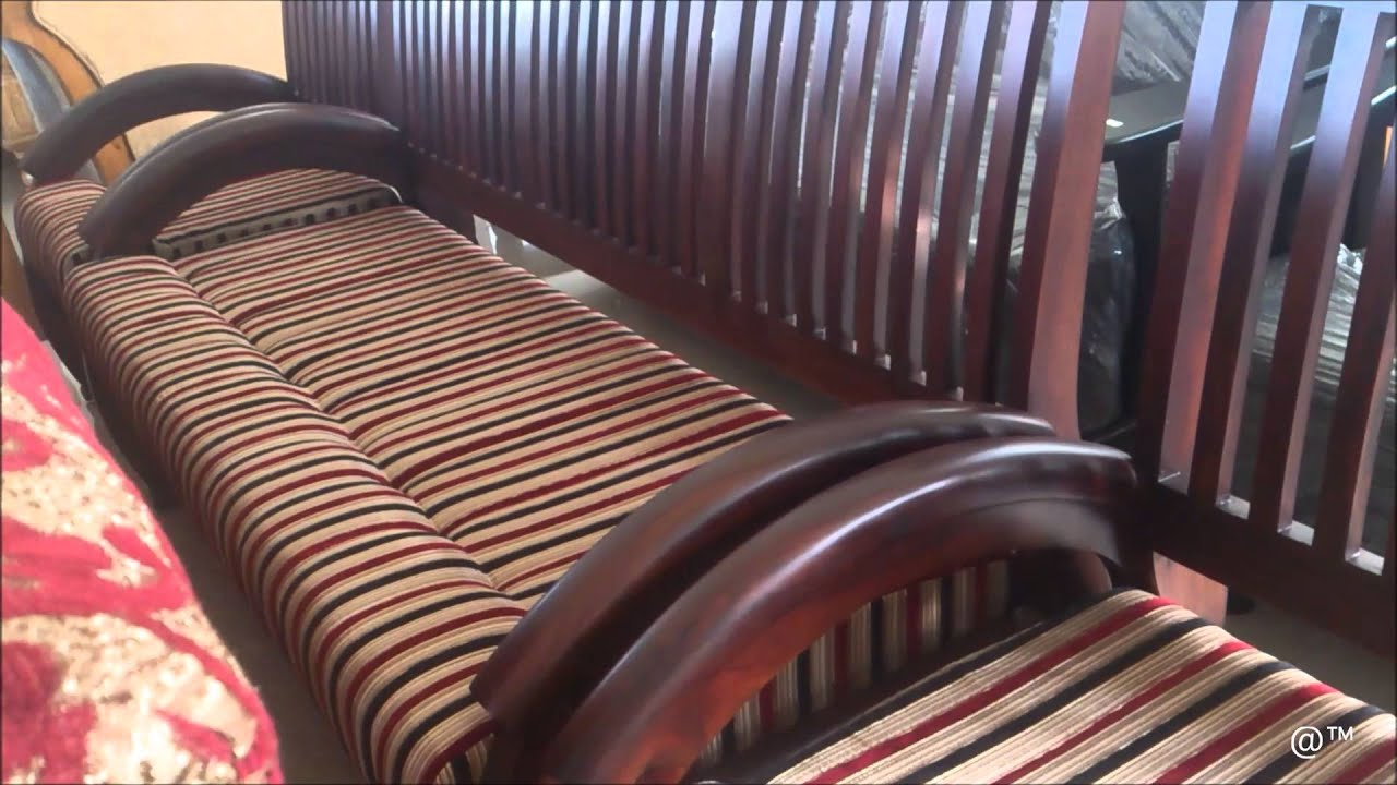 Sofa Design With Wooden Handle Thick Leather Malaysia Rose Wood Curved Set Youtube