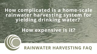 Rainwater Harvesting Feasibility & Cost Estimating