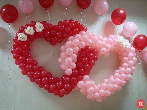Сердце на свадьбу из шаров своими руками