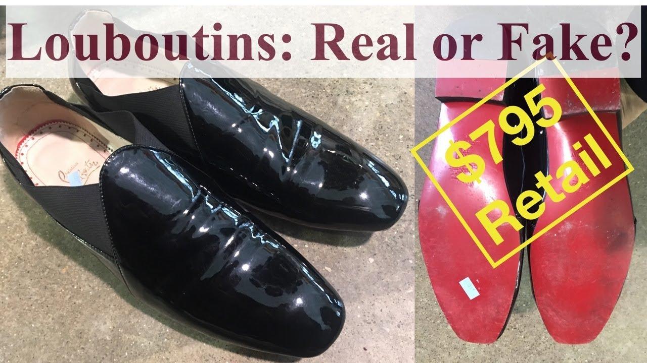 100e86c9fe1f Identifying Fake Christian Louboutin Men s Dress Shoes - YouTube