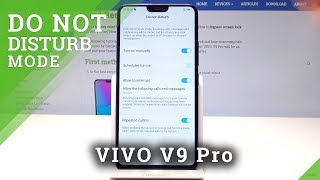 How to Enable Do Not Disturb Mode in VIVO V9 Pro - Mute Sounds & Vibrations