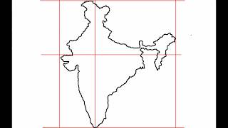 How to draw Map of India.