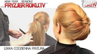 Lekka codzienna fryzura Simple hair updo FryzjerRoku.tv