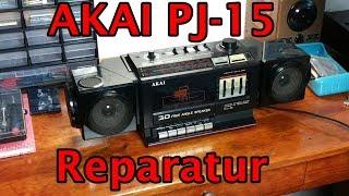 Akai PJ-15 Boombox Kassettendeck-Reparatur