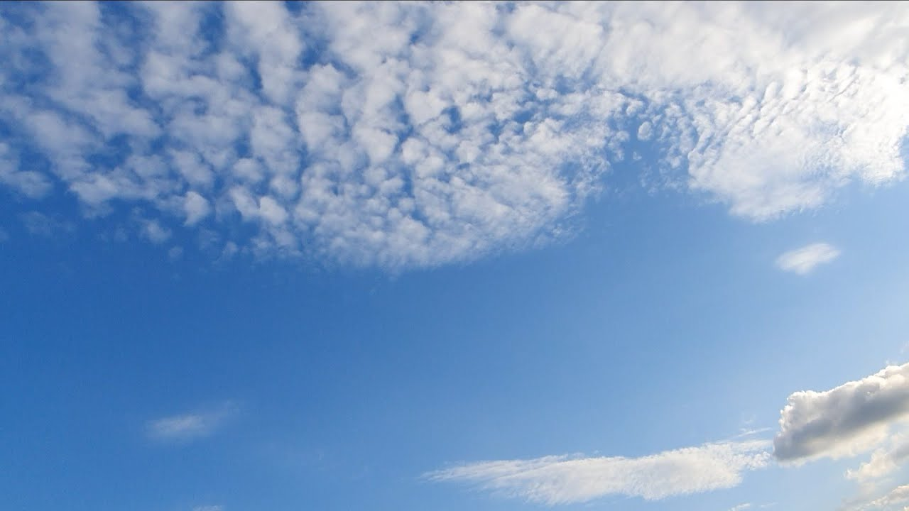 blue sky background video time lapse clouds moving footage youtube channel Piano 11 minutes - EP 145