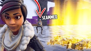 Scammer suspect LOSES IT dans son OWN HOMEBASE (Scammer Gets Scammed) - Fortnite Save The World