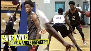 Zaire Wade DUNKING & Breaks Defender