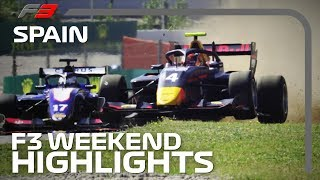 Formula 3 Race One and Two Highlights   2019 Spanish Grand Prix