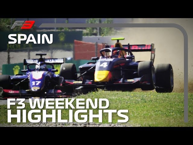 Formula 3 Race One and Two Highlights | 2019 Spanish Grand Prix