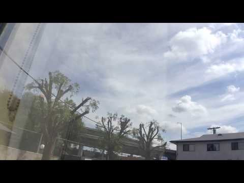 BUITIFUL two lyered stratocumulus clouds with cirrus clouds. Time - lapse San Fernando, CA