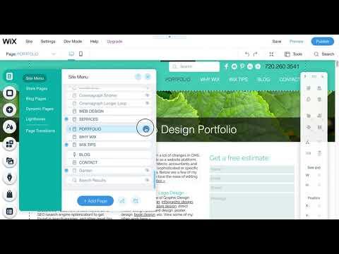 Wix Designer Tip: Hiding Pages in Wix