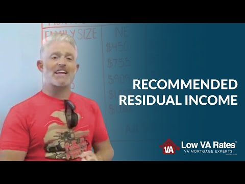 Recommended Residual Income | Low VA Rates