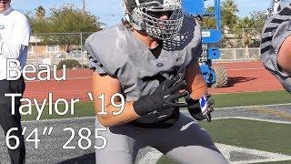 Football - Beau Taylor '19 Bishop Gorman(NV) Junior Year Highlights