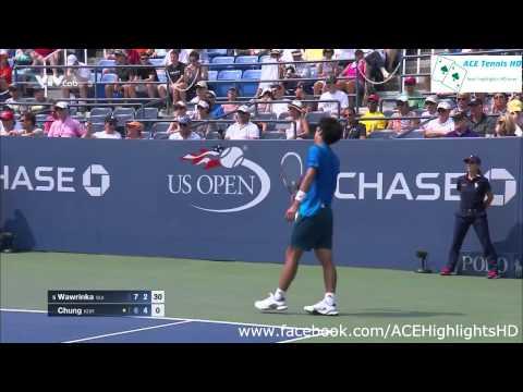 Stanislas Wawrinka vs Hyeon Chung tennig US OPEN 2015