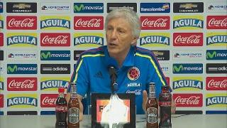 Rueda de prensa de Pékerman tras la derrota de Colombia frente a Paraguay