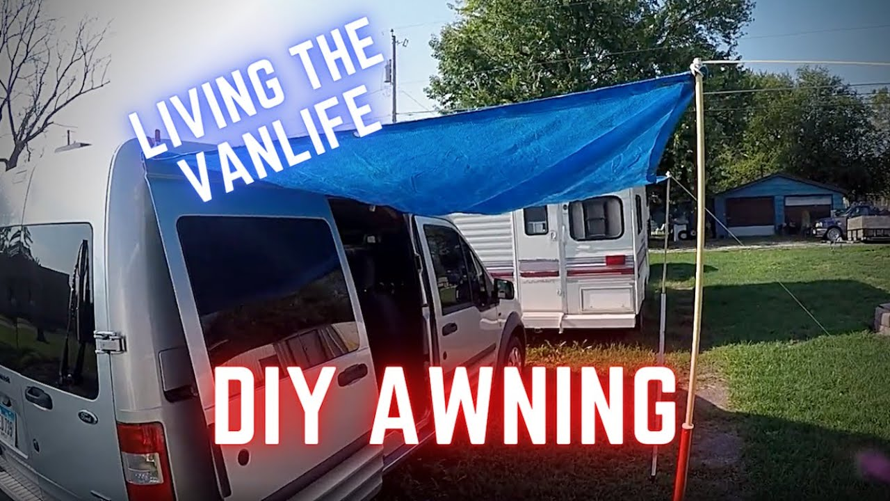 DIY Camper Van Conversion Life Make A 25 Awning For Your RV Truck Or Car