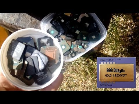 BGA chips (caps) Wet ashing gold recovery & refining - Extreme dangerous!