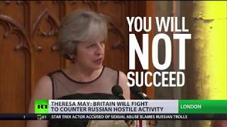 """Theresa May: """"UK will fight to end Russian hostility"""""""