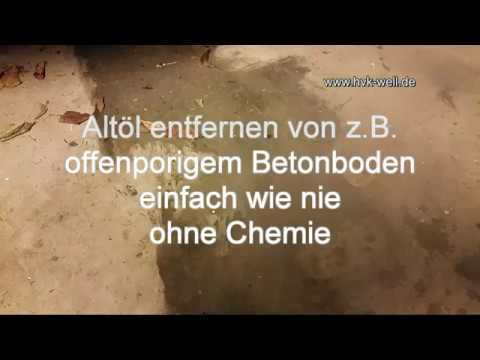 ohne chemie l auf offenporigem beton entfernen youtube. Black Bedroom Furniture Sets. Home Design Ideas