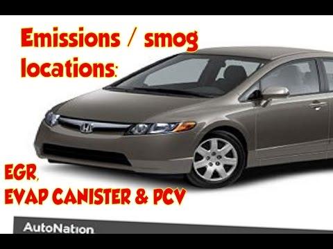 Honda Civic emissions EGR valve PCV valce  EVAP canister