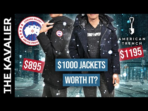 $1,000 Winter Jackets - Worth It?? Canada Goose And American Trench Parka Review
