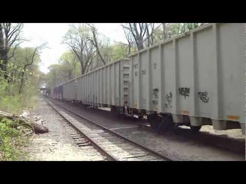 New York & Atlantic Railway 271 & 268 East Bound through Forest Park Sunday Morning