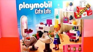 playmobil city life 5487   beauty salon   salon kosmetyczny   demo
