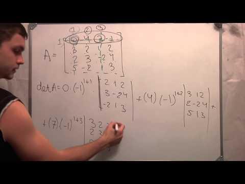 Как найти минор матрицы 4х4