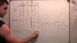 Определитель матрицы 4х4.Линейная алгебра. Студент. Ч 3.