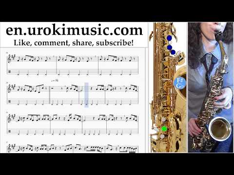 How to Play Saxophone (Alto) Clean Bandit - Rockabye ft Sean Paul Anne-Marie Tabs Part#2 um-i352