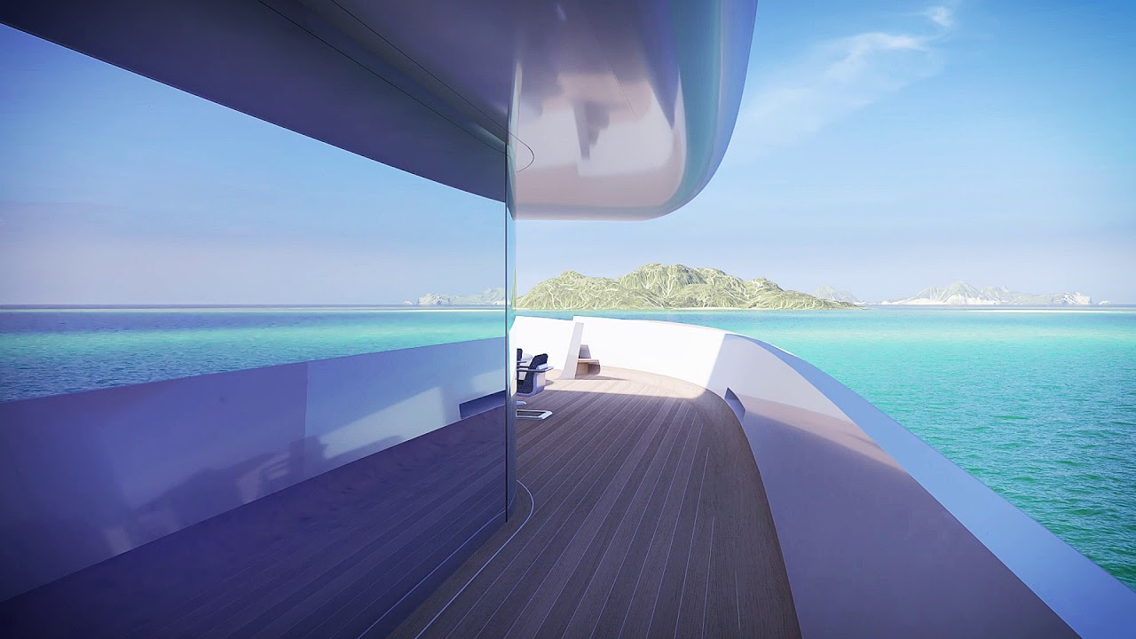 نتيجة بحث الصور عن Mirage 106 M Luxury Yacht - Illusion by refraction of light