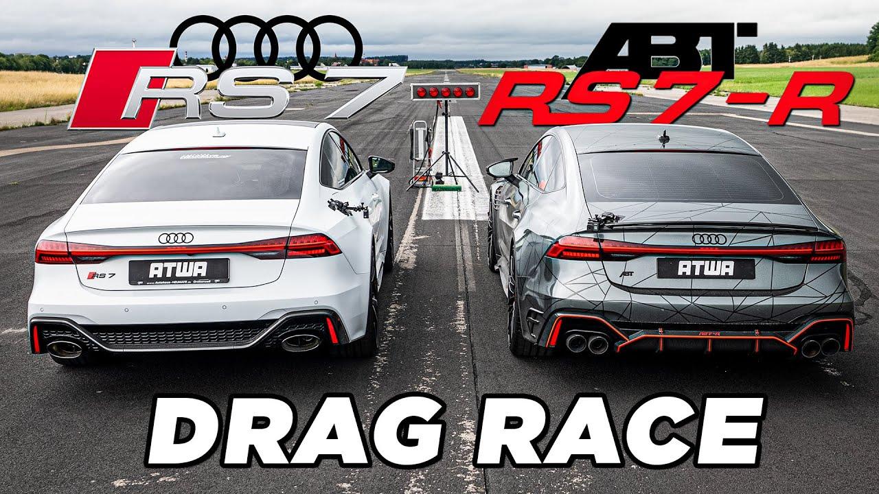 ABT RS7-R vs. Audi RS7   DRAG RACE   Daniel Abt