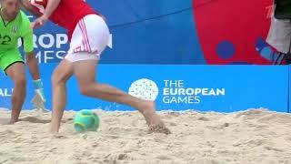 европейские игры-2019. Пляжный футбол. Россия - Украина. Все голы матча