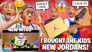 WE MADE A NEW INTRO & I BOUGHT THE KIDS NEW JORDANS!
